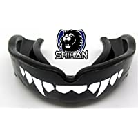JUNIOR Negro Sensei J Signature Protector Bucal 'dientes de colmillos -'junior' , MMA, Rugby, Ufc Lucha protector bucal BJJ,Hockey,Patinaje Sobre Hielo,Voleibol,Fútbol,Judo,Jiu Jitsu