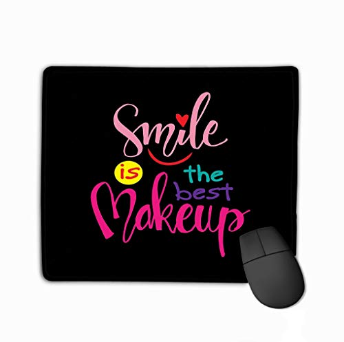Mouse pad Smile Concept Inspirational Phrase Ink Writing Hand Lettering Motivation Poster Artistic Design Logo Greeting Cards steelseriesKeyboard