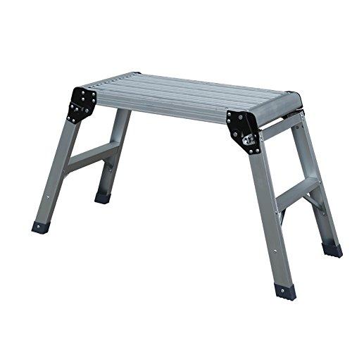 Klappstufen WSSF- Faltender Stufenleiter-Schemel der Aluminiumlegierungs-Arbeitsbühne-2 mit sicherer Blockierung-Wäsche-Auto-Station Große Bank Stepladder-Rutschfeste Sicherheit -150kg Kapazität