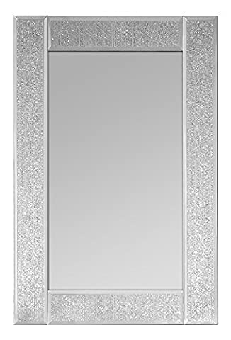 Innova Editions Glitter Mirror, White, 30 x