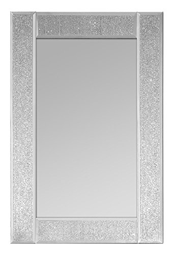 Innova M06896 Ascot- Espejo Rectangular Vidrio centelleante, 3x 45cm, Color Plateado