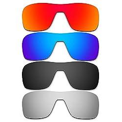 Hkuco Mens Replacement Lenses For Oakley Turbine Rotor Redblueblacktitanium Sunglasses