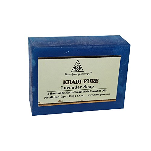 Khadi Pure Herbal Lavender Soap - 125g  available at amazon for Rs.63