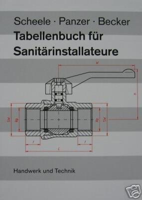 Tabellenbuch für Sanitärinstallateure