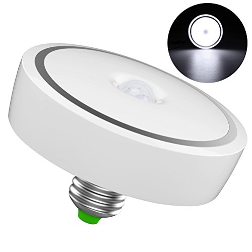 LEDMOMO 12W E26 Bewegungs-Sensor-Glühlampe, LED-intelligente Birne menschlicher Körper-Induktions-Lampe Auto AN / AUS, für Wandschrank, Treppe, Plattform, Badezimmer, Schlafzimmer, Küche (kühles Weiß) -