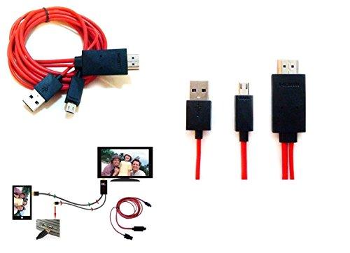 mondpalast @ 6ft 1080P MHL zu HDMI HDTV Kabel Adapter für Sony Xperia Z3 , Z3 , Z3 tablet compact (Mhl Hdtv)