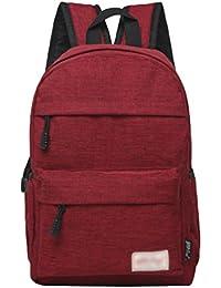 ZKOO Mochila de los Estudiantes Mujeres Hombres Mochila de Viaje Mochilas de Portátil de Lona Backpack Daypacks al Aire Libre Ocio