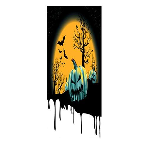 Vosarea adesivi per porta di halloween porta copertina zucca decorazione halloween party accessorio forniture di halloween