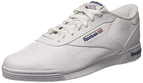 Reebok Herren Ex-O-Fit Clean Logo INT Low-Top Weiß White royal Blue, 45.5 EU