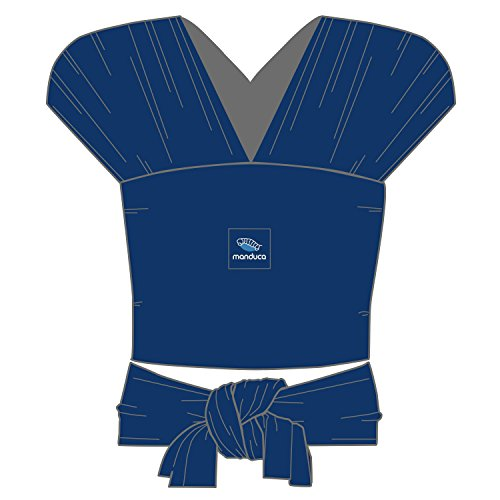 manduca Sling > Stretchy Baby Wrap & Baby Carrier < GOTS Organic Certified Cotton Baby Product, Suitable for Newborns & Infants from Birth up to 15kg (Royal/Blue, 5,10m x 0,60m)  Wickelkinder GmbH