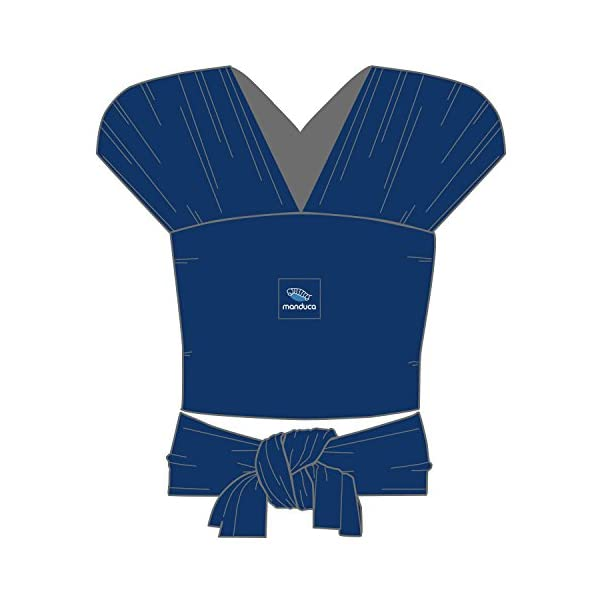 manduca Sling > Stretchy Baby Wrap & Baby Carrier < GOTS Organic Certified Cotton Baby Product, Suitable for Newborns & Infants from Birth up to 15kg (Royal/Blue, 5,10m x 0,60m) Manduca Baby sling in hip & trendy slub jersey. 100% organic cotton, soft, cosy & lightweight knitwear. Fancy effect yarns give the fabric its typical melange look. Stretchy yet stable for optimal fit and comfort: the bi-elastic knitwear wears as light as your favorite shirt, the perfect amount of stretch supports you and your baby without restricting Easy to tie thanks to colour contrasting seams & middle marker. Instructions for three carrying positions: pocket front carry pre-tied (for on the go & for men), wrap cross carry (optimal support) and hip seat/ hip wrap cross carry (with a twist) 5