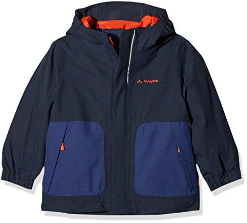 Jungen Gefütterte Jacke (VAUDE Campfire 3-in-1 Jacket IV Kinder Doppeljacke, Cobalt, 134/140, 05381)