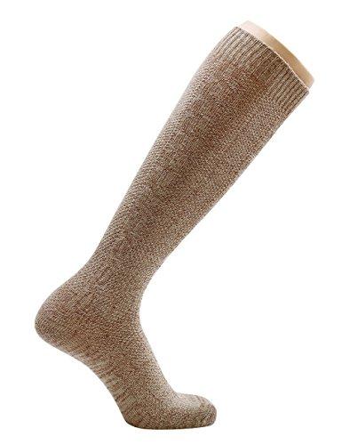 KUULEE Trachtensocken Trachtenstrümpfe Socken Herren Kniestrümpfe in 2 Farben für das Oktoberfest - 2