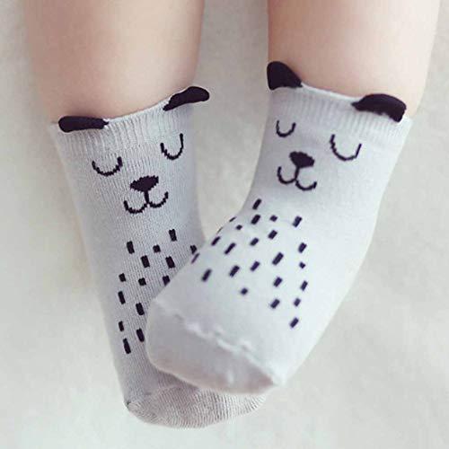 Floridivy Nette Baby-Hund-Katze-Ohr-Socken-Jungen-Mädchen-Karikatur-Baumwoll neugeborener Säugling Kleinkind Socken