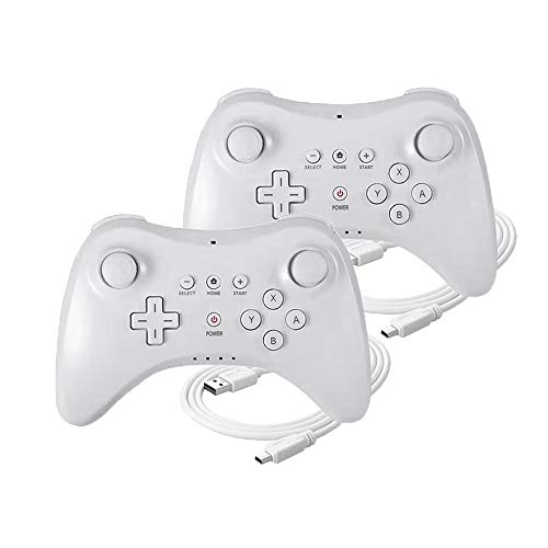 ZeroStory Classic Wireless Controller für Wii U Konsole, 2 Stück White and White