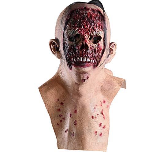 S+S Halloween Maske Zombie Glatze Tyrann Faules Gesicht Latex Maske Biohazard Horror Vampir Perücke Mit Haarkleidung Party Requisiten Latex Maskerade Requisiten Ostern