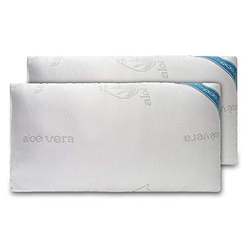 Cecotec Pack de 2 Almohadas de 70cm Fabricada con Copos viscoelásticos 100%