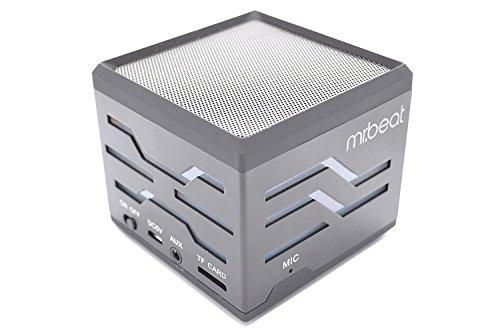 mr. beat Bluetooth Lautsprecher Box, Tragbarer Mini Speaker, Wireless Bluetooth Box, unterstützt micro SD-Karte & USB-Stick, inkl. FM-Radio, Bluetooth Freisprecheinrichtung, Farbe: schwarz