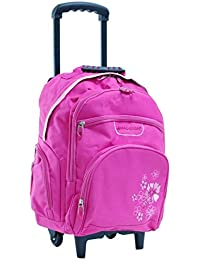 Snowball-valises-bagages - Sac a dos Trolley Madisson - Rose-fleurs