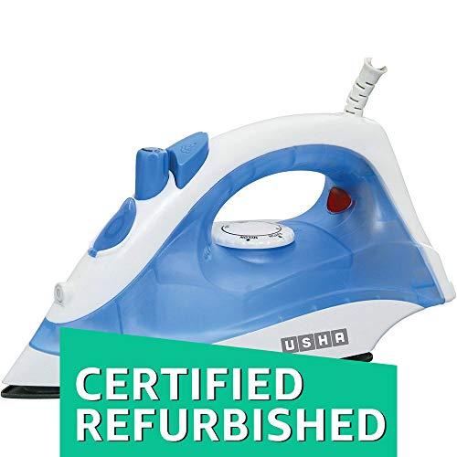 (CERTIFIED REFURBISHED) Usha Steam Pro SI 3713 1300-Watt Steam Iron (White/Blue)