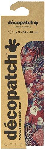 Decopatch C754O Papier, 395 x 298 mm, 3er Pack, rot pfingsrose