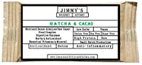 Jimmy's Gourmet Kitchen (Energy Nutritional Bar)(Matcha & Cacao)(Detox Antioxidant Anti-inflammatory)(Gluten Free Sugar Free Vegan)(50g Bar Pack of 6)(300g)