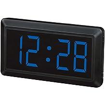 LED reloj reloj dual LED reloj digital reloj de pared colgante LED reloj digital grande de características plug-in , blue