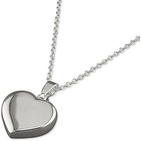 Necklace. a forma di cuore, in argento Sterling, con pendente a forma di cuore, ideale in stile Tiffany