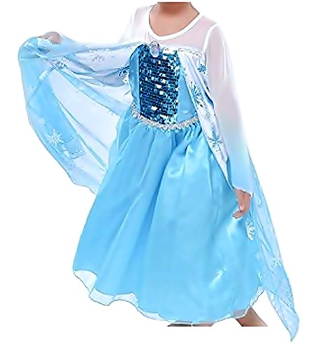 Inception Pro Infinite Größe 130 - 4 - 5 Jahre - Kostüm - Karneval - Halloween - ELSA - Girl - Bicolor - Frozen