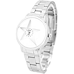 Shiny Silver Band PNP glänzende silberne Uhrgehäuse-Dame-Frauen-Mode-Uhr