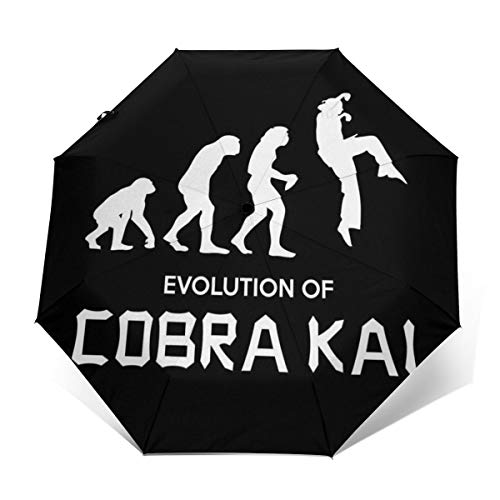 Evolution of Cobra Kai Paraguas Plegable Compacto