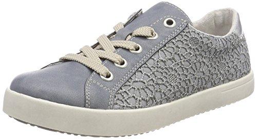 Rieker Kinder Mädchen K5205 Sneaker, Blau (Adria/Jeans), 34 EU