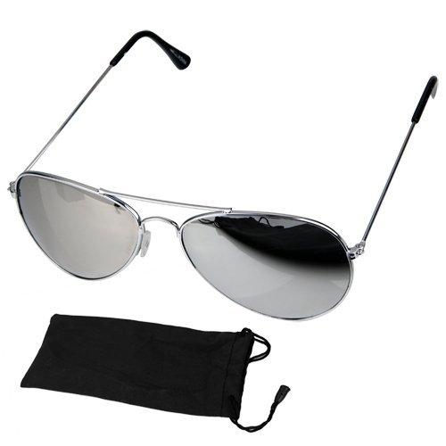OCCHIALI DA SOLE AVIATOR EFFETTO SPECCHIO UV400 (Occhiali da sole)