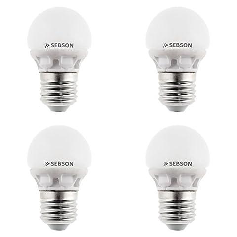 SEBSON® 4er-Pack E27 LED 5W Lampe - vgl. 40W Glühlampe - 400 Lumen - E27 LED warmweiß - LED Leuchtmittel 160°