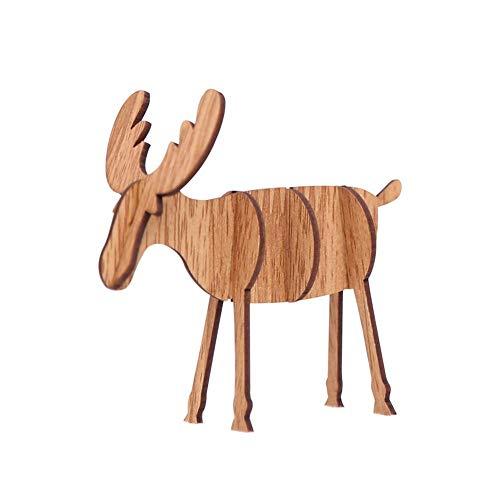 (iStary 2018 Weihnachtsgeschenk Diy Wooden Elk Ornamente Weihnachtsdekoration Ornamente Weihnachtsgeschenke Christbaumschmuck Hängende Karten-Party-Umbau-dekorative Geschenke Kreatives)