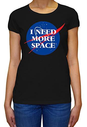 ShutUp Co. I Need More Spaca NASA Camiseta para Mujer Medium