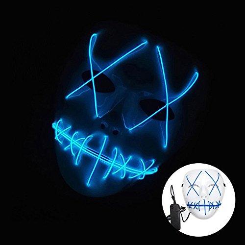 JIALUN- LED 1W Masquerade / Halloween Ghost Schlitz Mund leuchten Lumineszenz-Maske für Party Prop macht