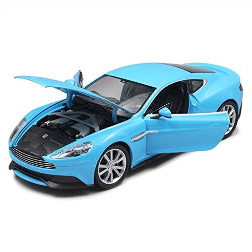 IVNGRI-Auto Model Modell Im Maßstab 1:32 Aston Martin Vanquish Simulation Hochdetaillierte Legierung Druckguss-Modell Spielzeugset Sportwagen-Sammlung Geschenk, 18x8x4,5 CM, Blau (Auto Kit Nissan Model)
