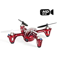 Hubsan X4 H107C Upgraded 2.4G 4CH RC Quadcopter With Camera RTF (2MP Camera, Red+White)
