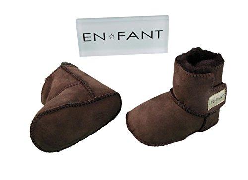 EN-FANT boots fourrées bébé mixte, coloris beige clair, taille M, 811840U-33 marron