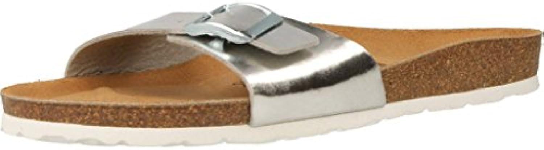 les sandales et les pantoufles de jaune, jaune, jaune, la couleur de l'argent, de marque, modèle des sandales et pantouf les po ur femmes riga Argent  b07cp4vz5r parent 52fb5f