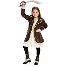 Kostümplanet® Piratin-Kostüm Kinder Piraten-Kostüm Mädchen Faschingskostüm Größe 116 128 140 152 164