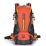 AEBDF Mochila 50LWaterproof Senderismo Mochila - Mochila de Deporte al Aire Libre con Protector de Lluvia for Escalada Montañismo Camping Pesca Viajes Ciclismo Esquí (Color : Orange)