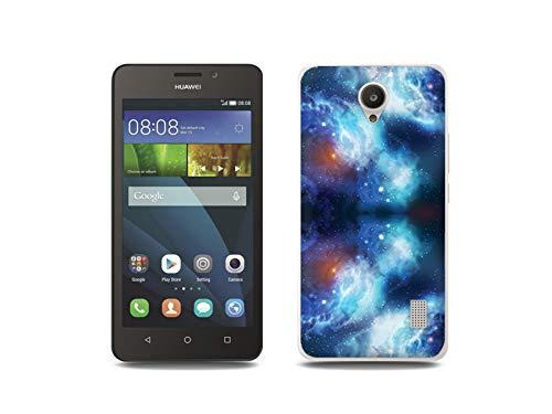 etuo Handyhülle für Huawei Y635 - Hülle, Silikon, Gummi Schutzhülle - Kosmos