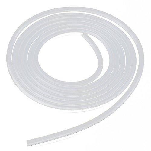 CDKJ de goma flexible manguera de 8 mm de alta temperatura de la tubería de agua del aire de calidad alimentaria resistente tubo translúcido transparente para transferir bomba de 2 metros de largo
