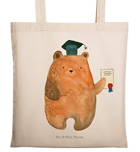 Mr. & Mrs. Panda Shopper, Einkaufstasche, Tragetasche Prüfungsbär - Farbe Transparent