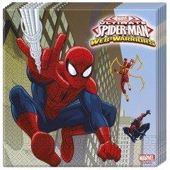 procos-85154-serviettes-papier-ultimate-spider-man-web-warriors-33-x-33-cm-2-plis-20-pieces-rouge-bl