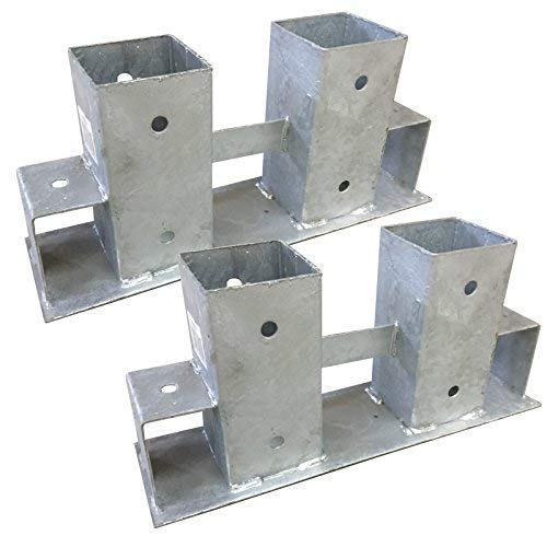 TikTakToo 2X Stapelhilfe verzinkt Brennholz Kaminholz Holzstapelhilfe Holz Gestell