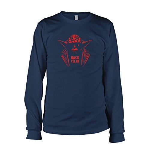 ll Be - Herren Langarm T-Shirt, Größe XXL, dunkelblau (Terminator Sarah Connor Kostüm)