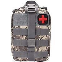 Yuan Ou Kit Primeros Auxilios Kit De Primeros Auxilios De Viaje De Bolsa Médica Táctica Al Aire Libre 15x11x21cm Acucamouflage